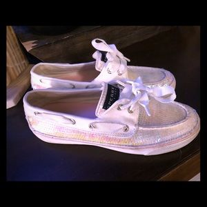 ✨ White Sequined Sperry's ✨